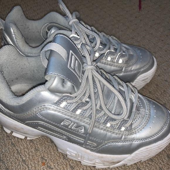 Fila Shoes | Fila Disruptor In Metallic